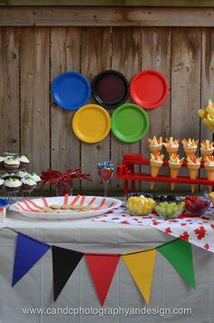 Deko für Oylmpische Spiele Party Public Viewing