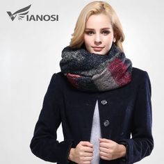 2016 Stylish Warm Blanket Scarf Gorgeous Wrap Long Plaid Thick Brand Shawls   #Vianosi #HipScarf #Any