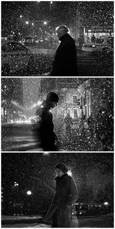 Satoki Nagata hit the dark, icy streets of Chicago with a slow shutter speed and a flash to create a stunning series of black and white portraits that you can a