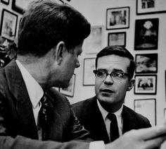 John F. Kennedy (left) and Ted Sorensen in the late 1950s. Sorensen began working for Kennedy as a research assistant in 1953. (PAUL SCHUTZE...