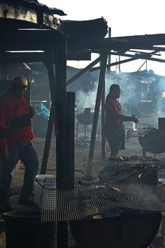 Shisa nyama from roadside vendors can be anything from steak to offal. (Photo: Joao Silva/The New York Times)