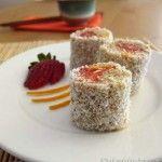 Homemade Strawberry 'Sushi'