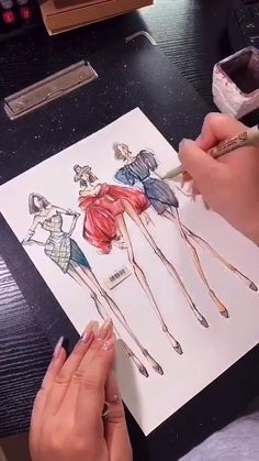 Dress Design Drawing, Dress Design Sketches, Fashion Design Drawings, Fashion Drawing Tutorial, Fashion Figure Drawing, Fashion Illustration Sketches, Fashion Sketches, Fashion Design Classes, Art Style Challenge