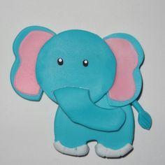 Elefante hecho en Masa Flexible. Animales de la Selva. Jungle Friends Polymer Clay
