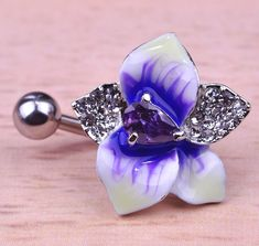Enamel Esmalte Violetta Flowers Navel Piercing Belly Button Rings Rasta Sex Body Jewelry Percing Accessories Women Grillz Lot  DOESNT SHOW HOW MANY G