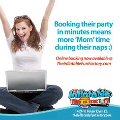 Make party planning simple & book online!