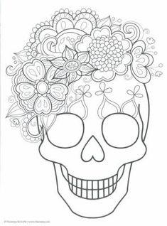 Dibujos para colorear el día de los muertos (5) Más