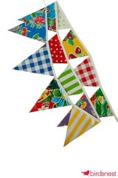 Bright flag bunting makes any location feel festive!