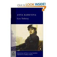 Anna Karenina by Tolstoy. Literary club, April 1998, second reading September 2004.