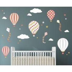 Hot Air Balloon Wall Stickers - Enchanted Interiors