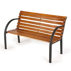 Eye-catching and stylish with a lovely teak-effect finish, this hardwood Kingfisher Norwegian Park Bench is generously proportioned to easily seat two. 2nd Hand Furniture, Wooden Garden Furniture, Fast Furniture, Furniture Covers, Outdoor Furniture, Outdoor Decor, America Furniture, Kingfisher, Park