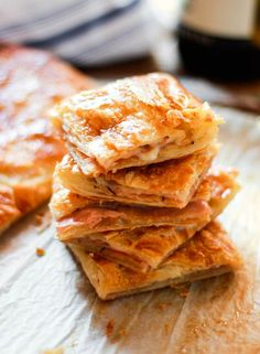 ham + cheese puff pastry | The Clever Carrot - I have made this and it was amazingly DELICIOUS!!  I recommend the puff pastry from Trader Joe's.  It is made with butter instead of shortening which makes it extra tasty!