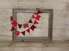 Red Fabric Garland. Perfect for your home by ThePartyOrchard, $11.99