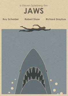 JAWS 16x12 Movie Poster - Shark Week. $19.90, via Etsy.