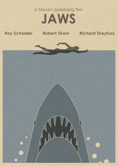 JAWS 16x12 Movie Poster - Shark Week. $19.90, via Etsy.