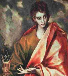 St. John Apostle | ... of el Greco's painting of Saint John the Evangelist holding a chalice