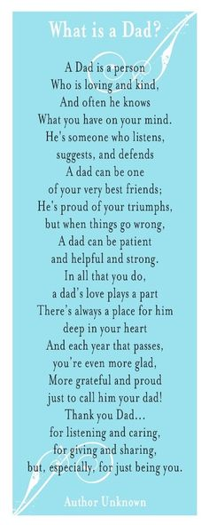 3 Poems about Fathers Day