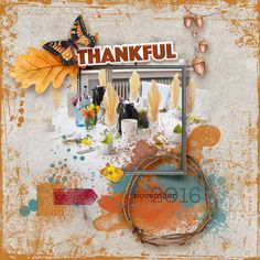 """""""MY THANKS"""" Collection by The Urban Fairy available @ Digital Scrapbooking Studio https://www.digitalscrapbookingstudio.com/digital-art/bundled-deals/my-thanks-collection/"""