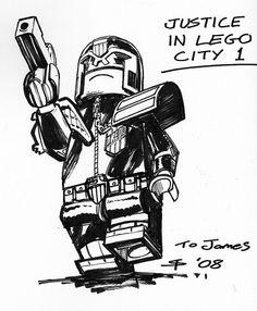Stephen Thompson - Lego Judge Dredd by LostCarPark, via Flickr