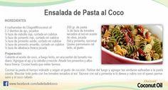 Ensalada de pasta al coco.#Recetasaceitecoco