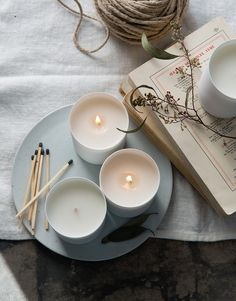Choose your favourite scented candles to take away with you, for that relaxing, familiar feeling as soon as you light it.