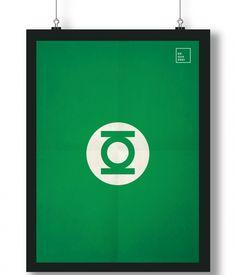 Pôster/Quadro minimalista Lanterna Verde
