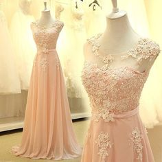 Sale 40% off lace embroidered pink prom dress by DesignsbySabi