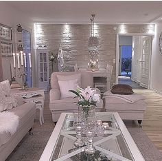 Tile Feature Wall, Back Room, Neutral Colours · Living Room WhiteLiving  Room IdeasLiving Room StylesDecorating ...