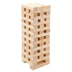 Eco-friendly pine wood block tower game.  Product: Tower game setConstruction Material: Recycled pine wood
