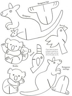 1000 images about childrens craft and activities on for Kangaroo puppet template