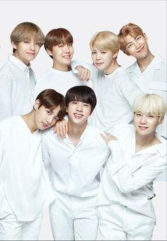 BTS x VT cosmetics bts wearing white Seokjin, Namjoon, Bts Bangtan Boy, Bts Jimin, Taehyung, Bts Lockscreen, Foto Bts, Jung Hoseok, Rap Monster