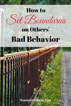 Through many years of Bible study, reading, and counseling, I've learned how to set firm boundaries against others' bad behavior and gain the peace I always desired. Here are the steps to take when setting a boundary. Difficult Relationship, Troubled Relationship, Relationship Tips, Relationship Building, Healthy Relationships, Christian Marriage, Christian Faith, Christian Women, Christian Living