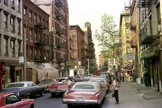Mulberry Street at Hester, facing North, 1975. Photo by Nick DeWolf.