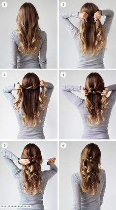 Weekly hairstyle: tie a knot http://www.vddlifestyle.com/2016/12/14/hair-extensions-guide-instant-long-full-highlighted-hair-styles/