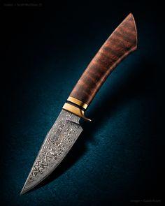 """Maker: Scott McGhee, JS Website: guineahogforge.com Blade Length: 3 7/8"""" Overall…"""