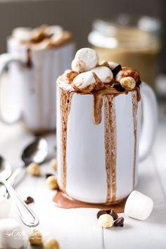 NUTELLA HOT COCOA: 4 cups milk,2 TBSP Nutella, 2 TBSP unsweetened cocoa powder 2 TBSPsweetener of choice/raw sugar