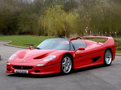 1996 FERRARI F50  Rosso with Black with Red Inserts