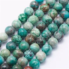 Wholesale Natural Turquoise Beads Strands, Round, Hole: about Turquoise Beads, Turquoise Necklace, Natural Gemstones, Jewelry Making, Nature, Circuit, Jewellery Making, The Great Outdoors, Make Jewelry