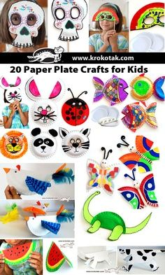 Paper Plate Crafts for Kids ||   and  for