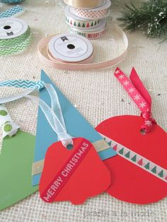 paint chip Christmas tags