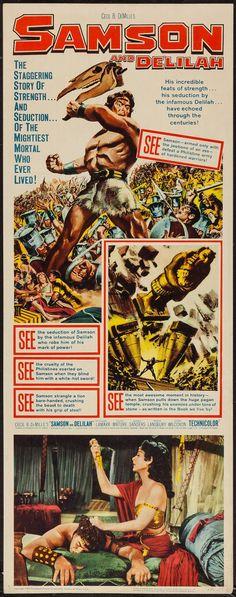 "Movie Posters:Adventure, Samson and Delilah (Paramount, R-1959). Insert (14"" X 36"").Adventure.. ... Image #1"