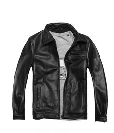 Factory Men Genuine Cowhide Leather Jackets Desigual Brand Design Euro Size Male Motorcycle Winter Overcoat Polo Jaqueta ZH078 $149.99