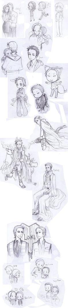 Sketch 1 by ILsama on DeviantArt Supernatural Crossover, Supernatural Ships, Remember The Name, She Loves You, Dont Cry, Detailed Image, Marvel, Fan Art, Deviantart