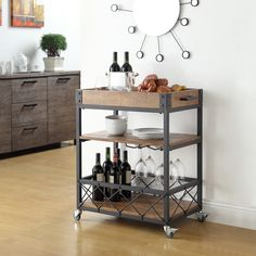 Adding extra storage to a kitchen can be tricky, especially if you're tight on space. A stylish island makes a statement and offers the custom look for a whole lot less. Use one to store pots and pans and add counter space. If square-footage is especially limited, choose a cart on wheels. When not in use, you can easily tuck your new space-saver away.