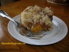 PEACH CAKE WITH COCONUT FROSTING