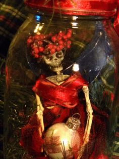 Captured Fairy in a Jar.  Christmas Fairy in a by ChesiMoonSmiles, $18.00