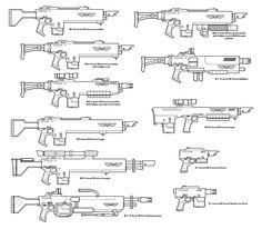 Lasgun variants