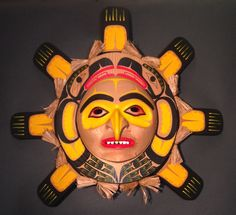 Sun Mask by Yul Baker (Coast Salish, Nuu-chah-nulth, Kwakwakw'wakw).