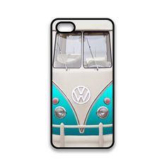 iPhone 5 , iPhone 5S , iPhone 5C Case Retro Vintage VW Surf Van , VW Car Turquoise Blue Funny Cover For iPhone 5S , iPhone 5C Cover   / 0001...