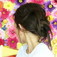 Knotty Hair by kandeej. #Hair #Top_Knot